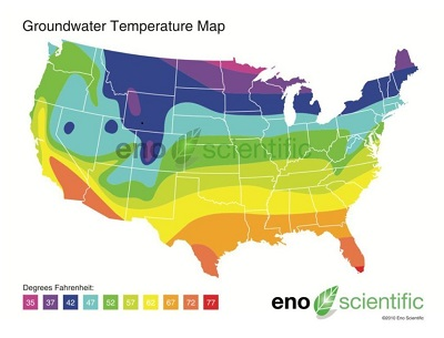 Thanks to Enoscientific for the well water temperature map. A new page will open to their original page